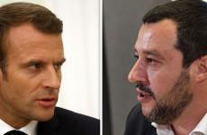 Salvini hadat üzent Macronnak