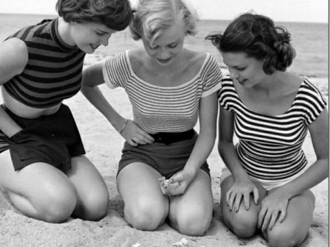 Fotó: Nina Leen: Girls on the Beach, 1950s (Life)