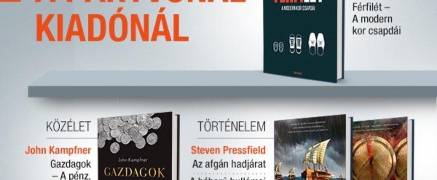 Könyvheti újdonságok a Partvonal Kiadónál