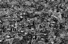 Fotó: Rene Burri: Bicycle parking lot outside train station. Tokyo, 1980 © Rene Burri/Magnum Photos